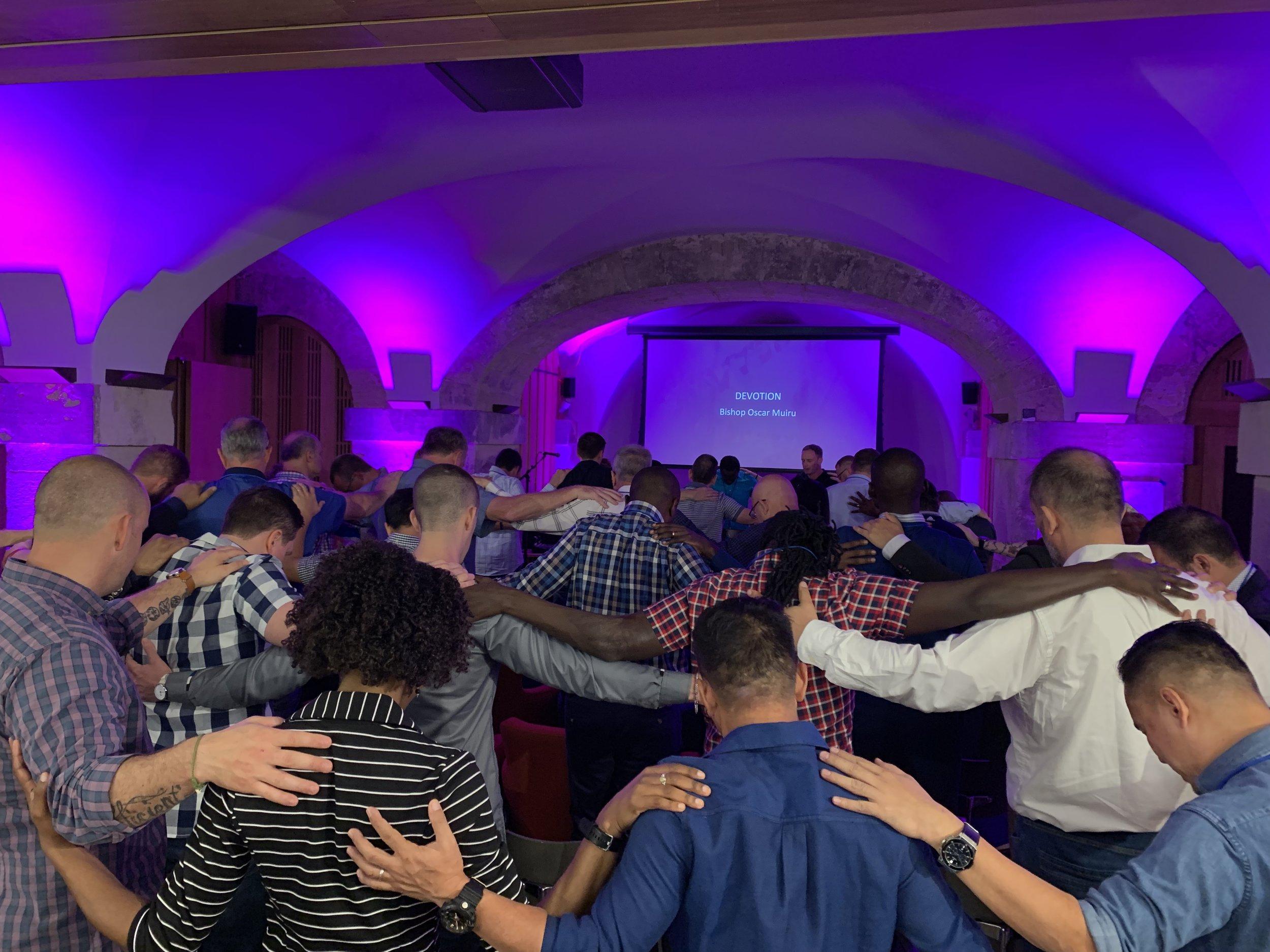 Prayer time at NewThing Global Huddle