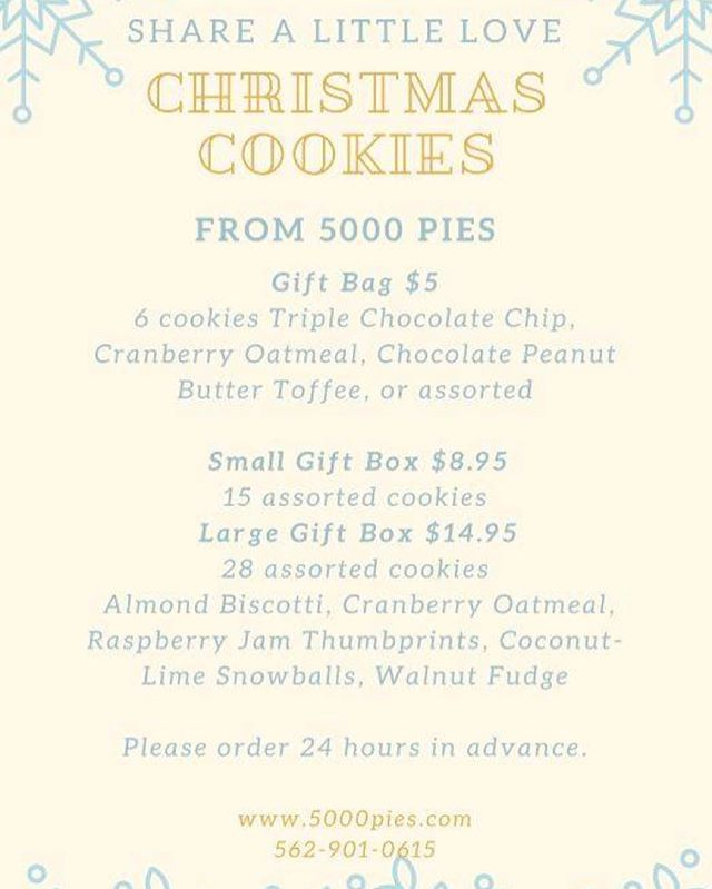 Need some last minute edible gift ideas for that teacher, counselor or coach? Or simply sweeten up your family dessert table! #ChristmasMadeWithLove #5000Pies #Cookies