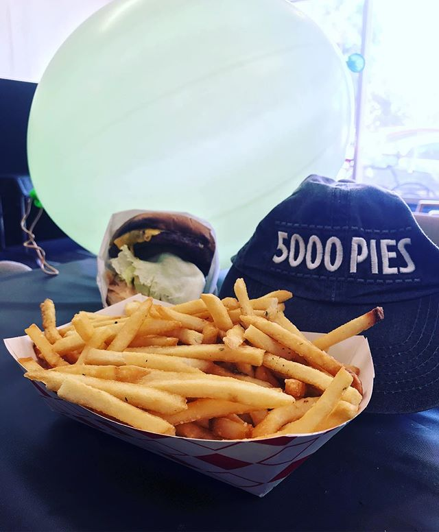 5KP Anniversary Burger & Fries! Photo cred @joy_teter101 !! #HappyBirthday5kp
