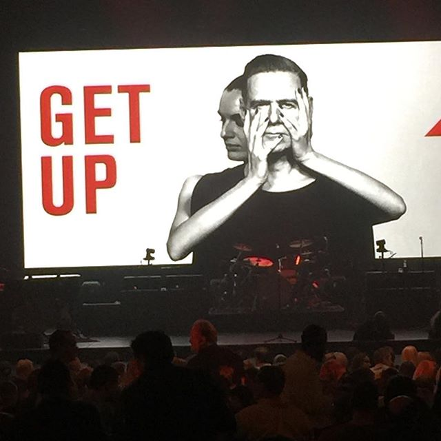 """Bryan Adams """"Get Up"""" tour, NOT sponsored, despite the provocative title and audience demographic, by any pill..."""
