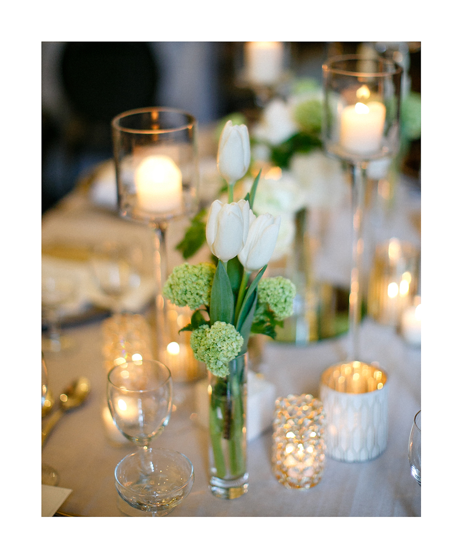 Wedding at Hotel Allegro by Fleur Inc, photo by Kina Wicks Photography.  Coordination by Estera Events.