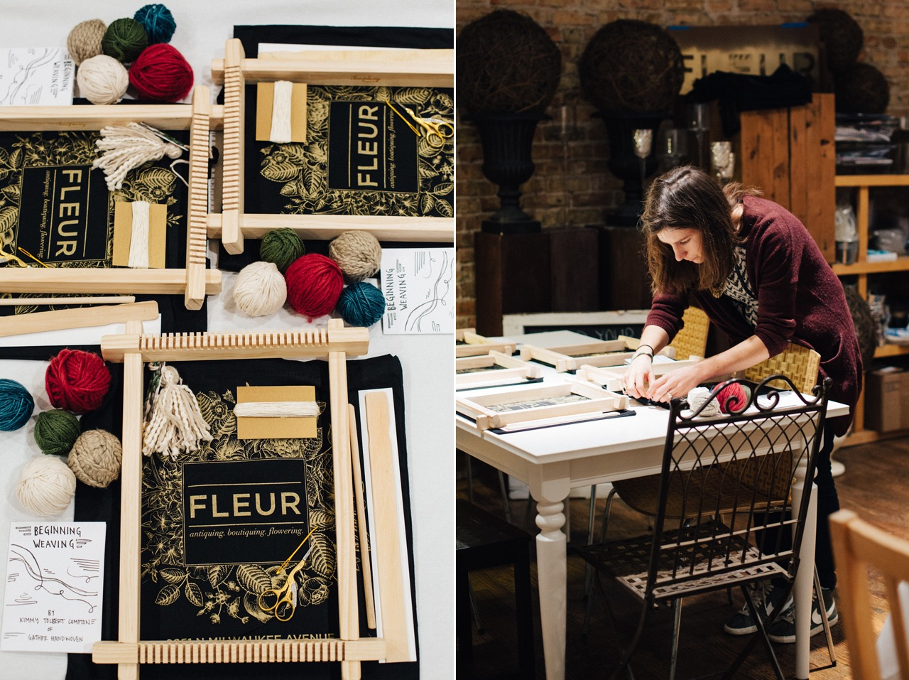 Weaving class at Fleur with Gather Handwoven