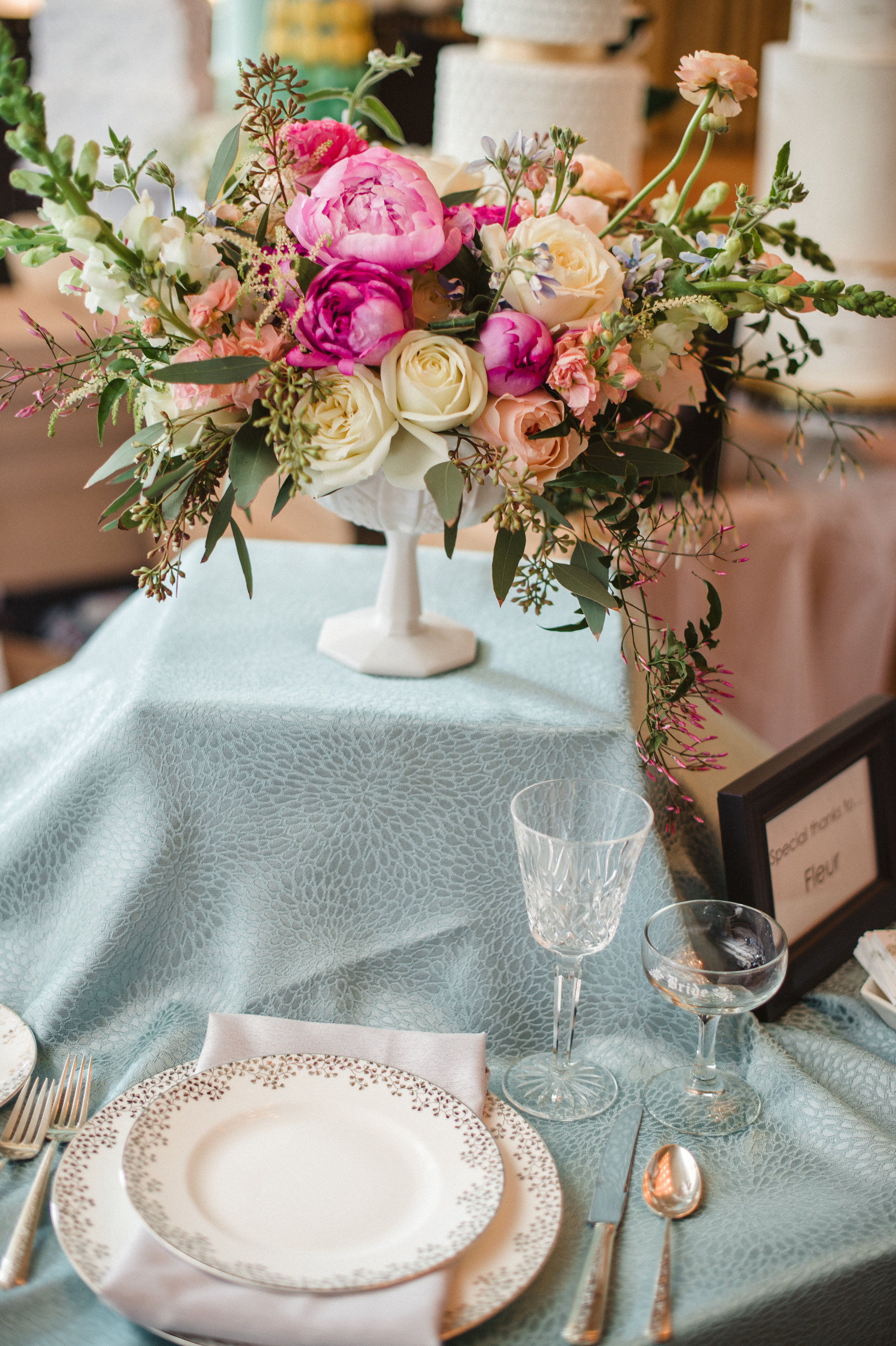 Flowers by Fleur Inc for the Martha Stewart Wedding Party, photo by Amanda Megan Miller Photography