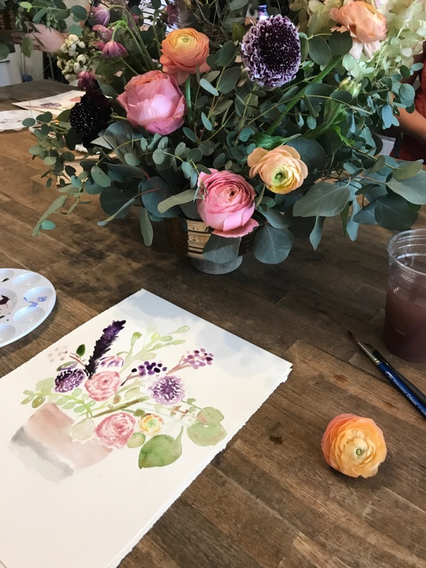 147B101C-.jpgWatercolor & Floral Design Class in the studio.
