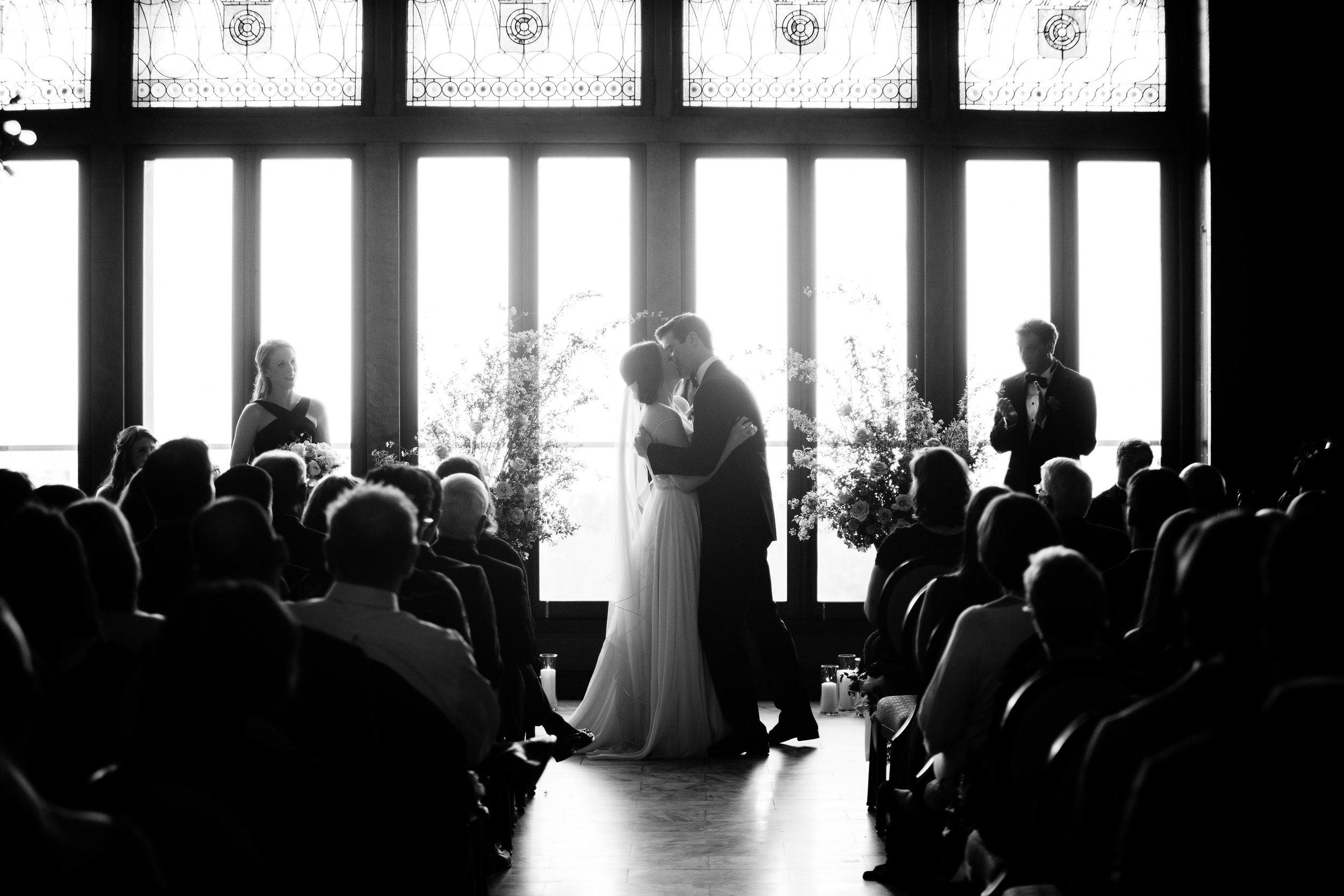 Fleur-Inc-Wedding-Chicago-Athletic-Association-Kina-Wicks-Photography-LIven-It-Up-Ceremony-Decor-White-City-Ballroom
