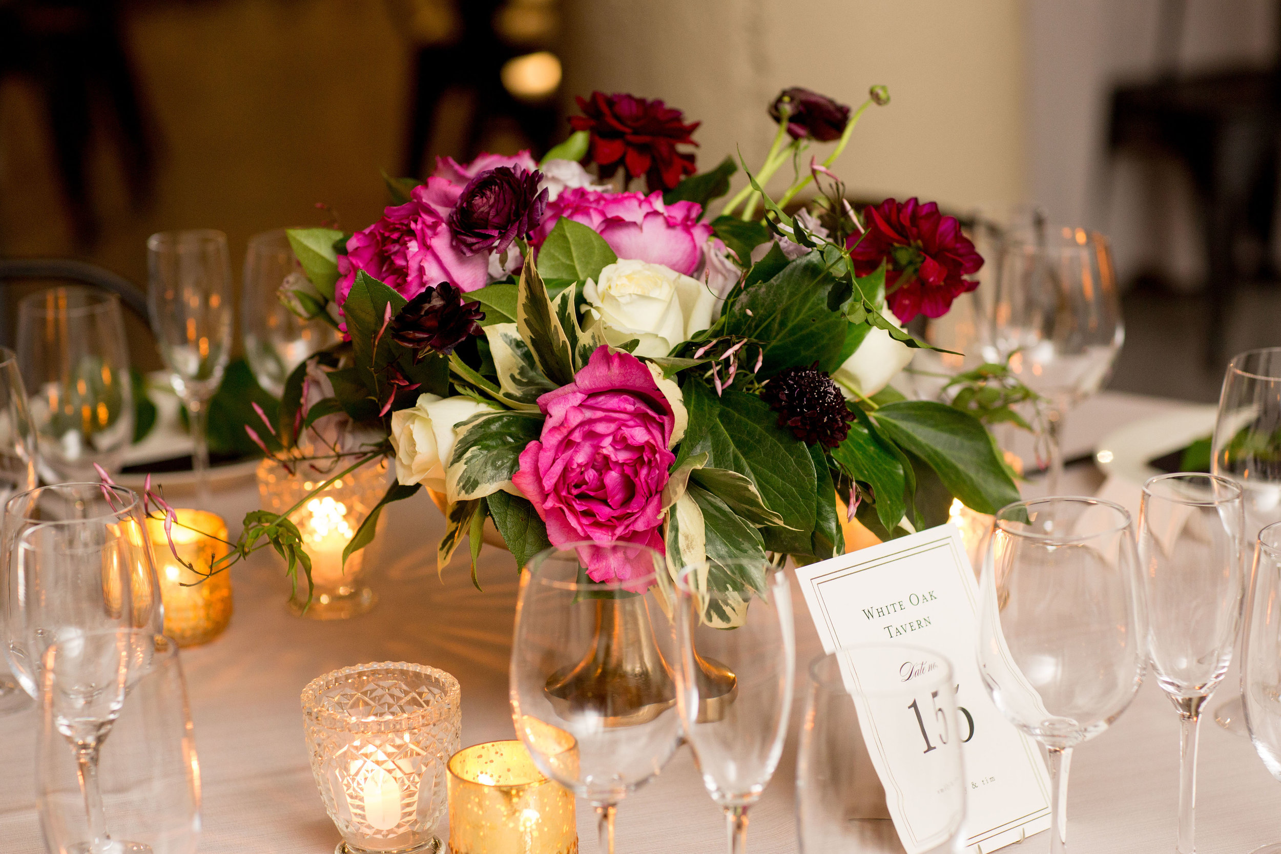 Yves Piaget garden rose centerpiece for this gorgeous Chicago wedding by Fleur Inc.  Image captured by Olivia Leigh Weddings