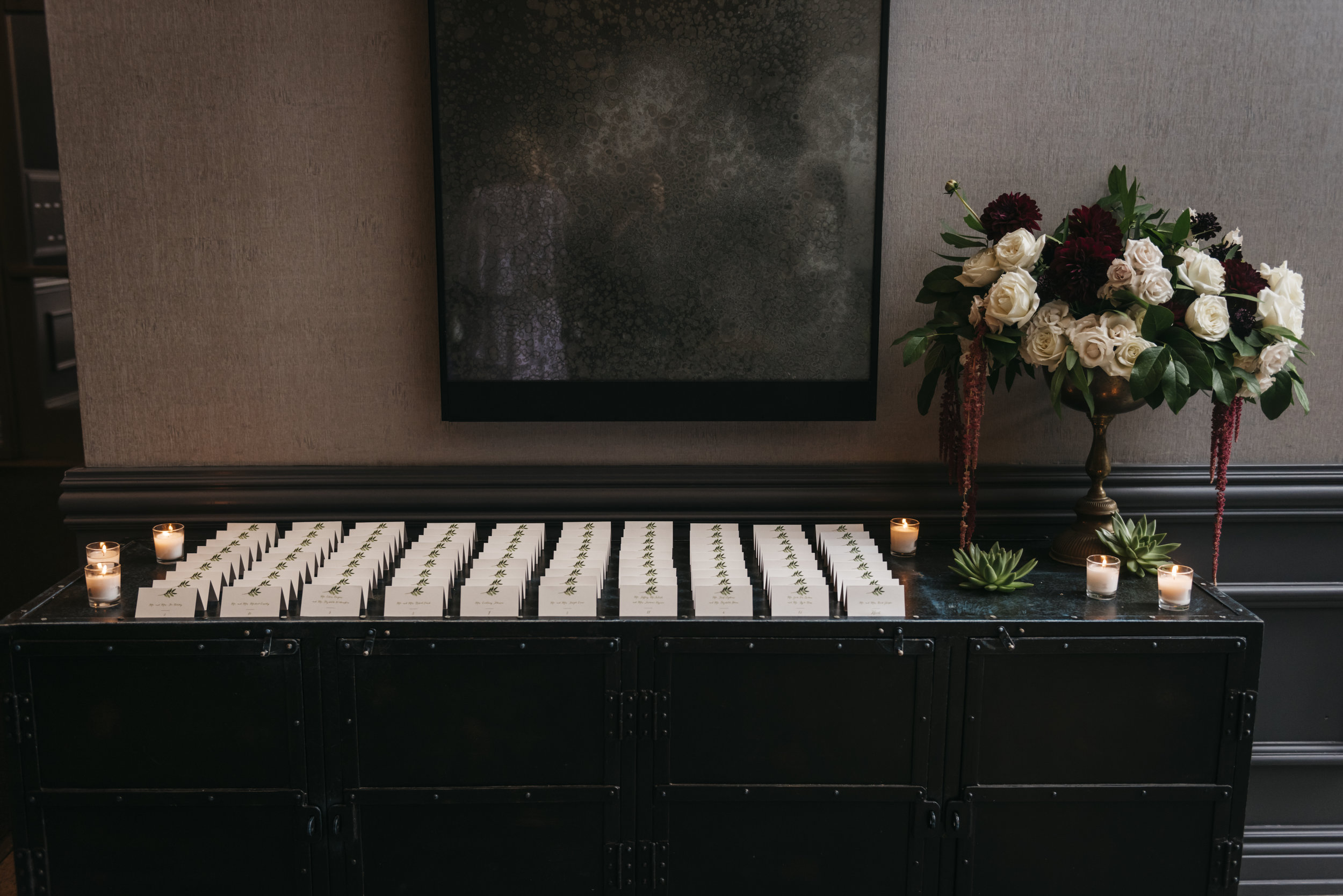Flowers by Fleur Inc, Photos by Erin Hoyt, Planning by LK Events at the Ivy Room Chicago