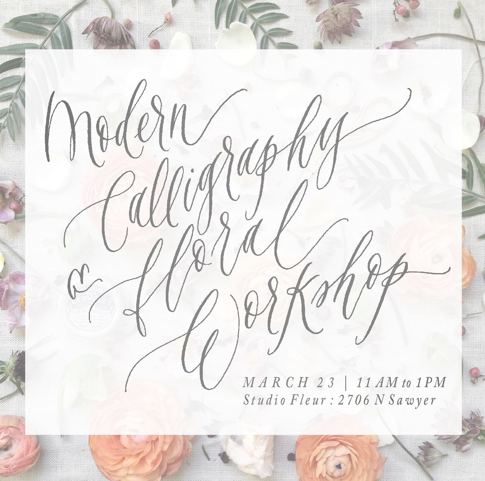 Layers of Loveliness Modern Calligraphy & Floral Design Class at Fleur