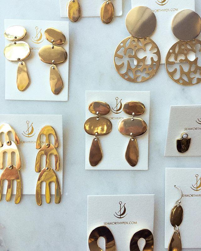 New earrings from @seaworthypdx just arrived in! #imreadyformyselfiemrdemille