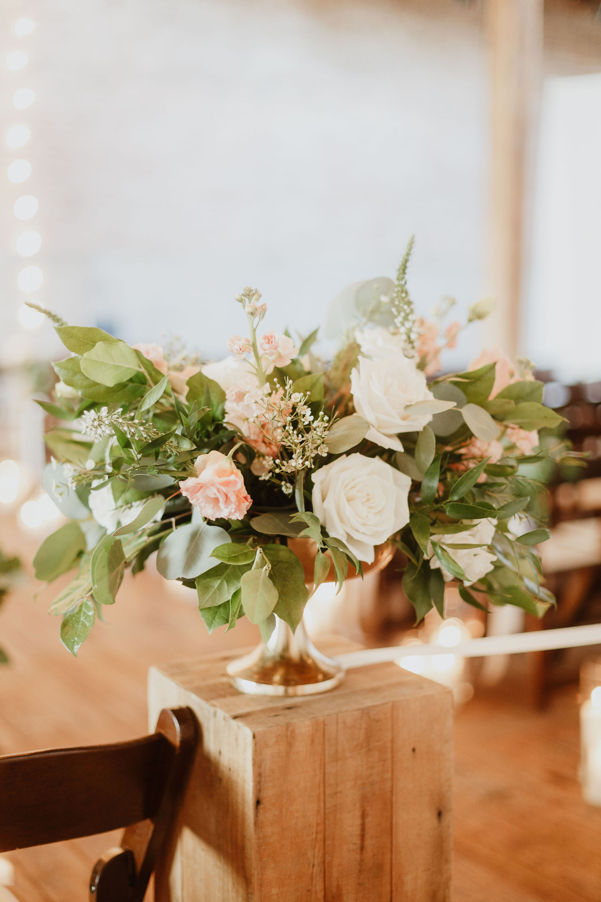 Flowers by Fleur Inc, Photo by Mark Trela Photography, Venue at Gallery 1028 in Chicago, Ceremony Decor.