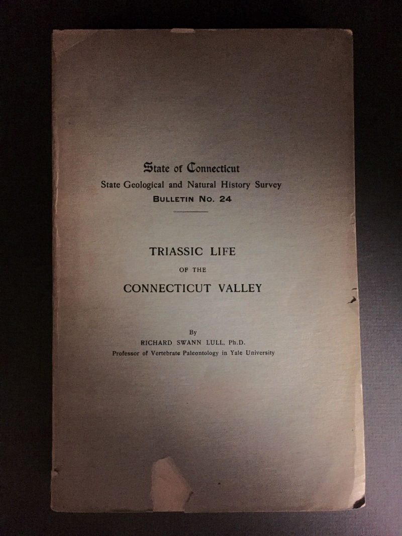 A beast of a publication at 285 pages, the Triassic Life of Connecticut divulges the wealth of information known to paleontologists of its time.