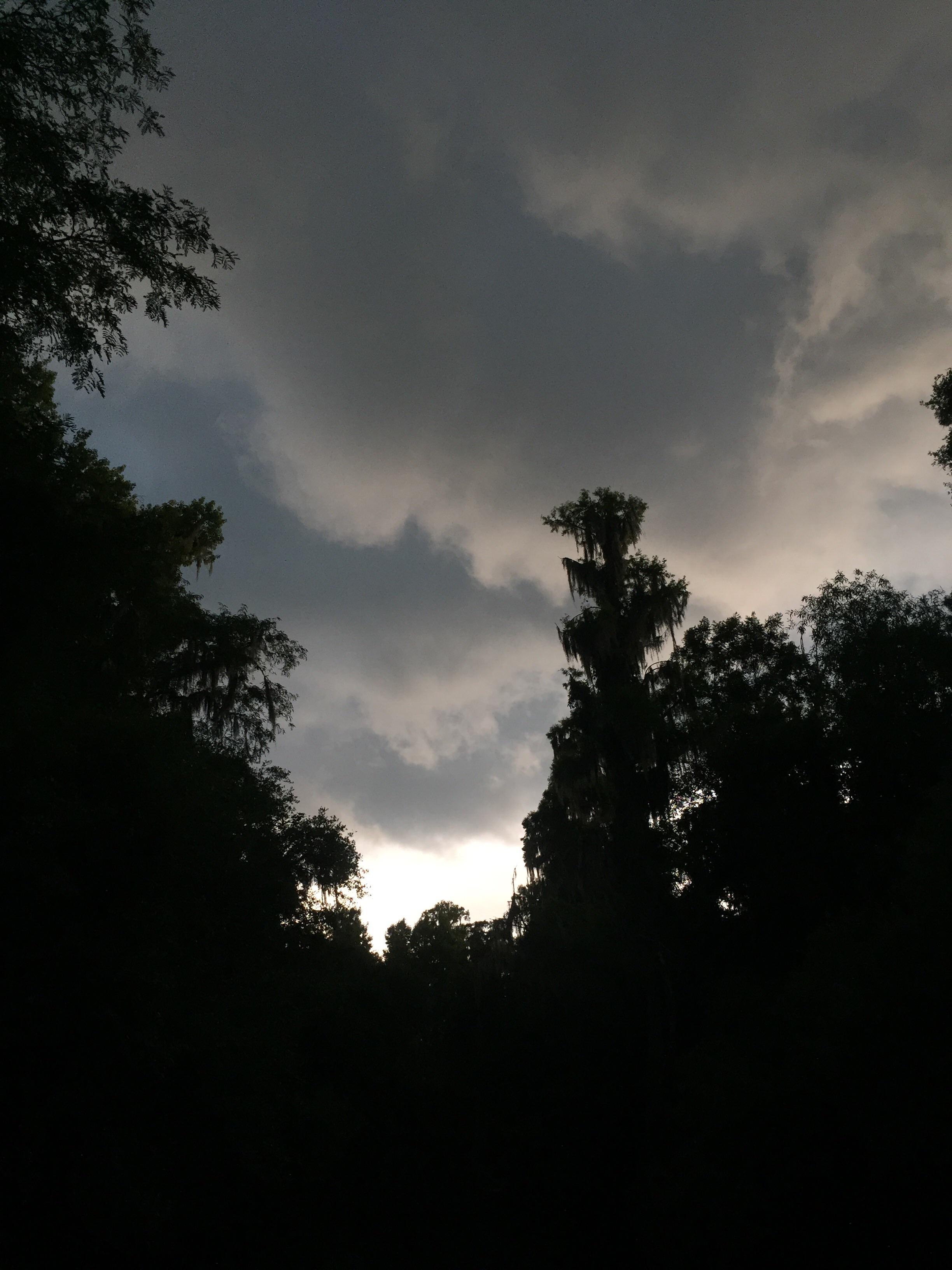 Ominous clouds.