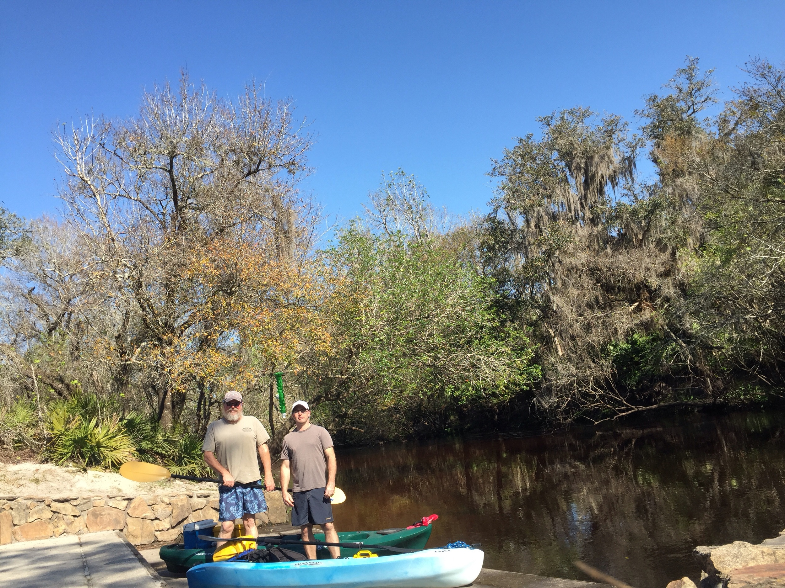 Clear skies and 73 degree weather make for a good day on the river.