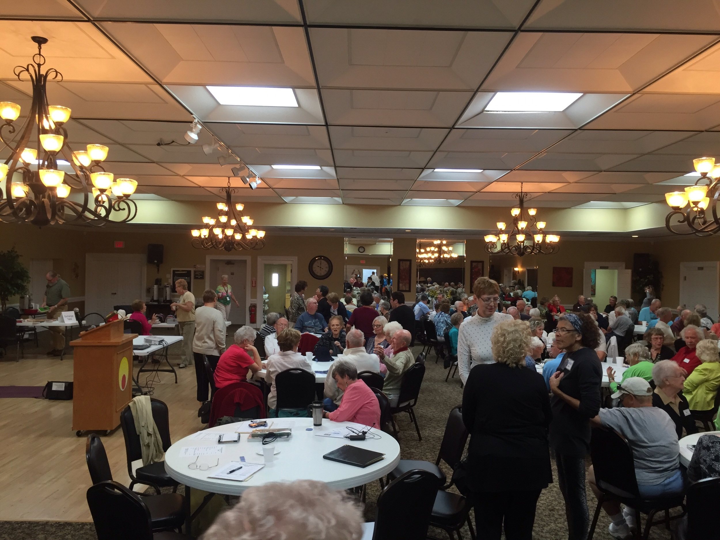 George's presentation was attended by around 150 members of the Audubon club.