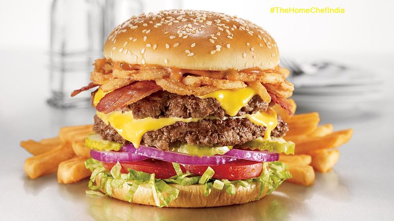 They can eat the fries, but not the burger. Image by the Home Chef India.