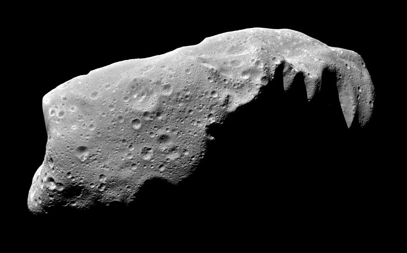 Asteroid Ida here is a friendly inhabitant of our solar system and not likely to bother any planets.