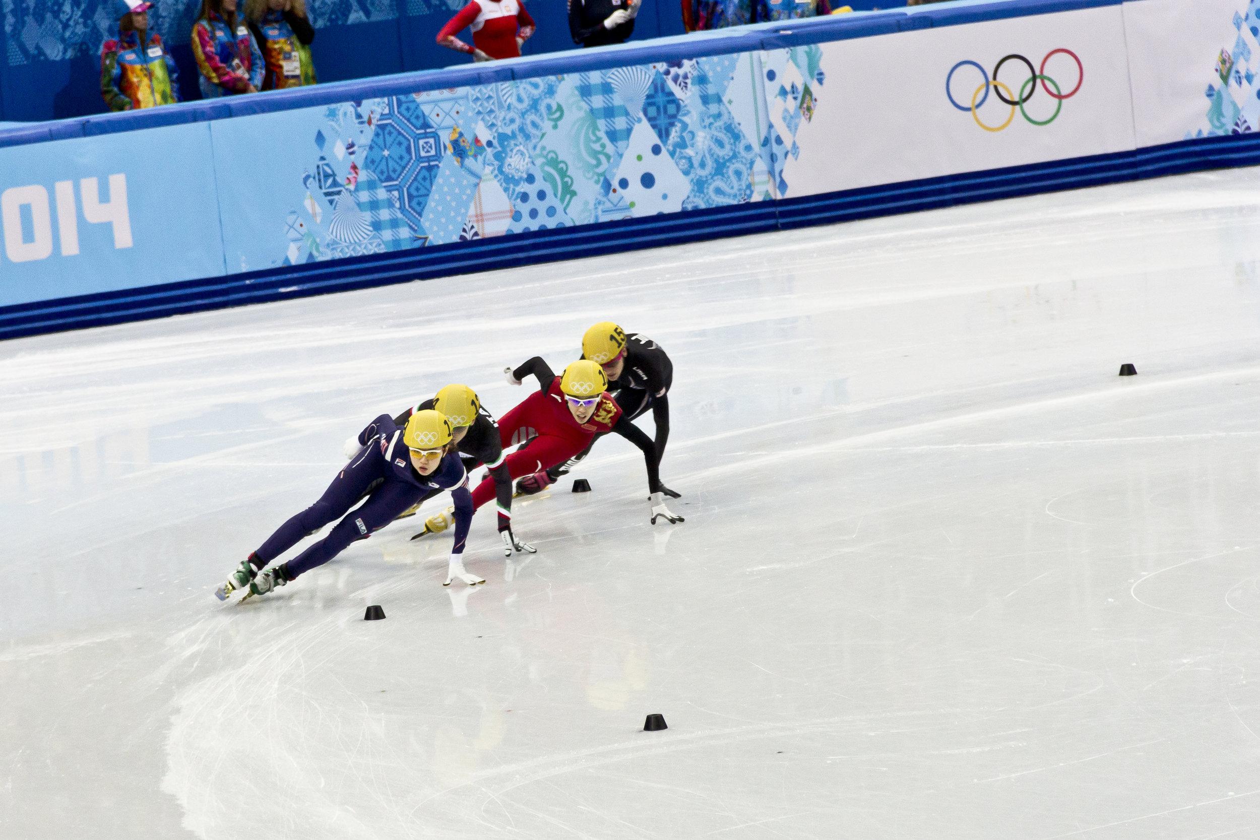 Women's short track speed skating at the 2014 Winter Olympics. Image by Pawel Maryanov.