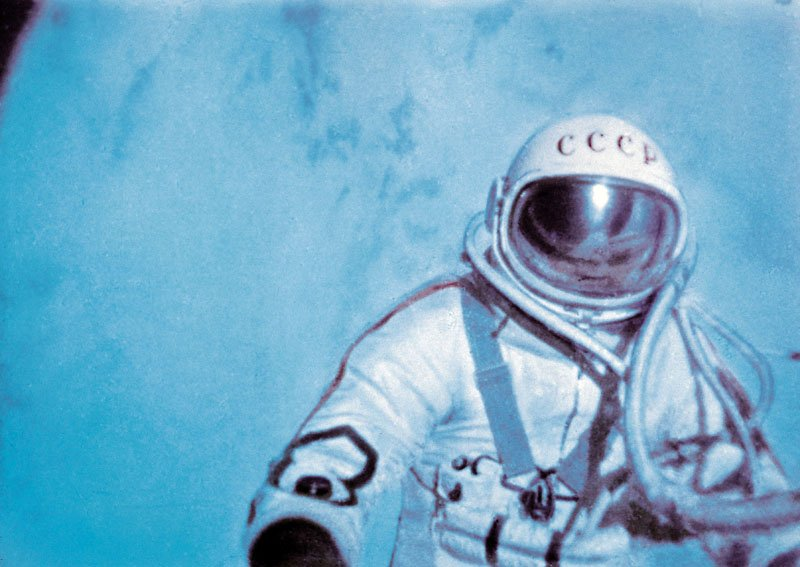 Leonov on the first spacewalk ever performed