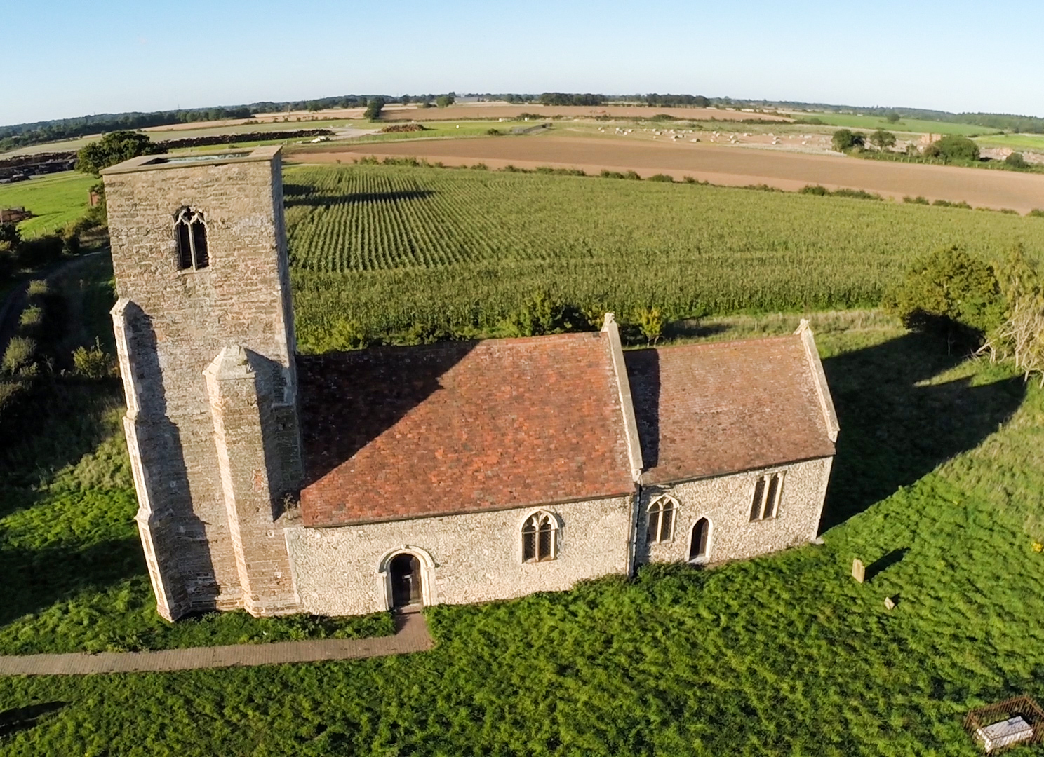 Drone Photograph of Suffolk's Fields
