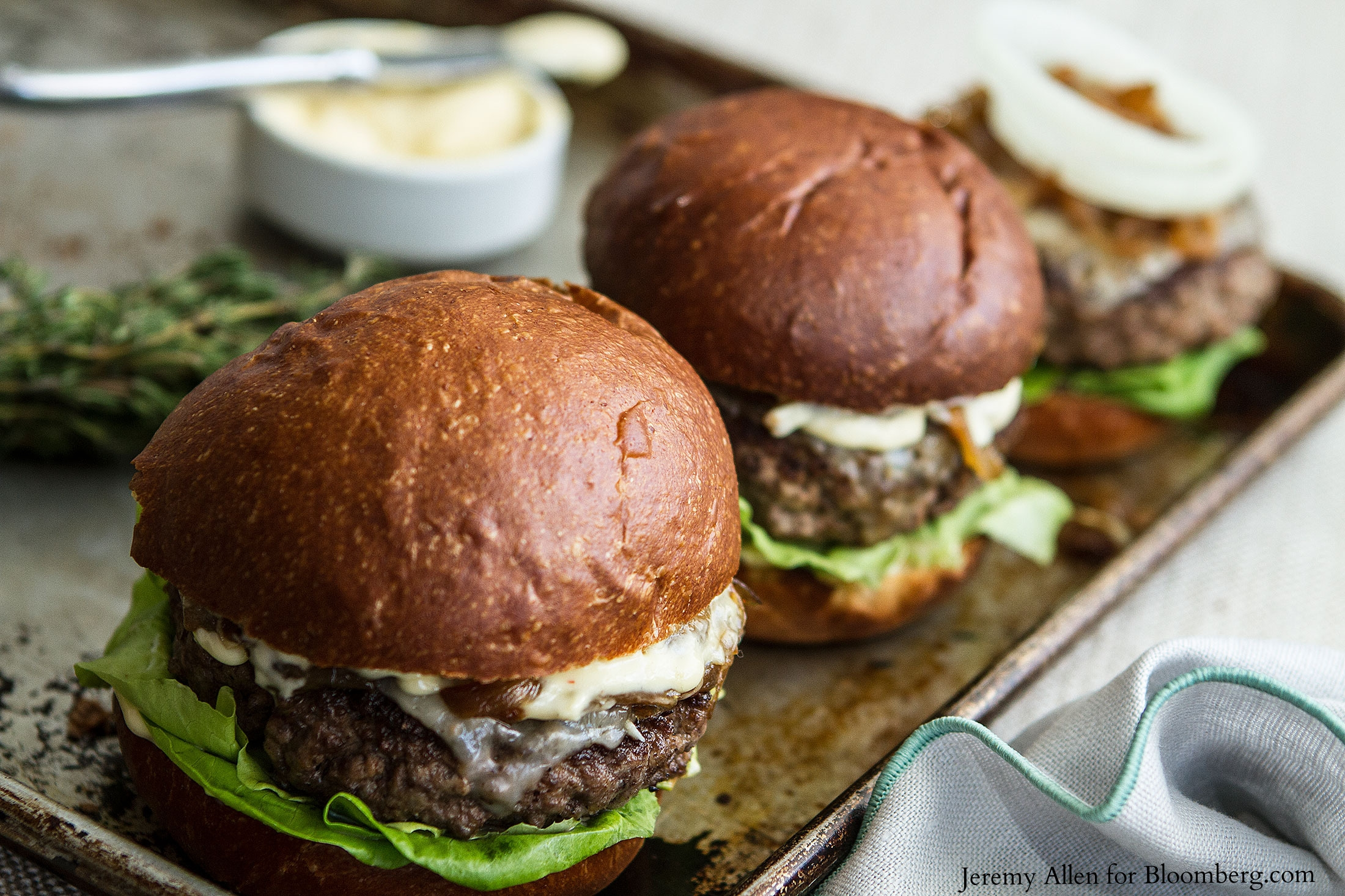 Beefy Burger with Sweet-and-Sour Onions