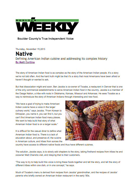 Boulder Weekly