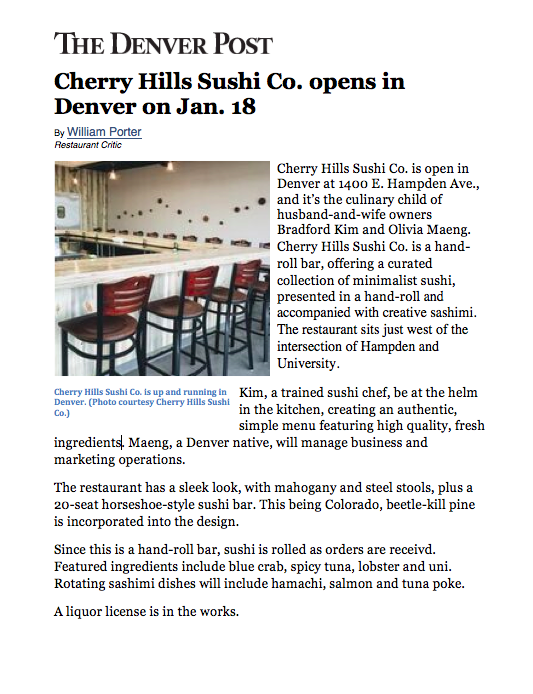 The Denver Post Opening Feature