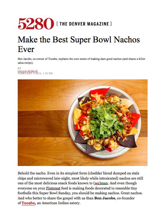 5280 Magazine Super Bowl Nachos