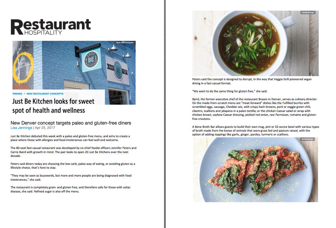 Restaurant Hospitality Magazine Opening Feature