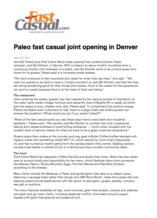 Fast Casual Magazine Opening Feature