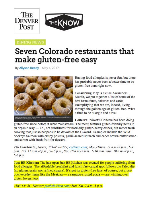 Denver Post The Know Gluten Free Roundup