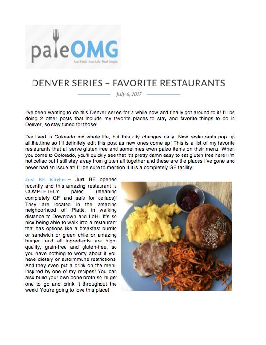 PaleOMG Favorite Restaurants