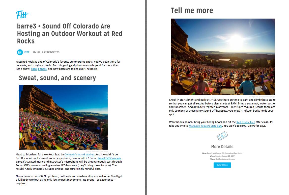 Fitt.com Red Rocks Event