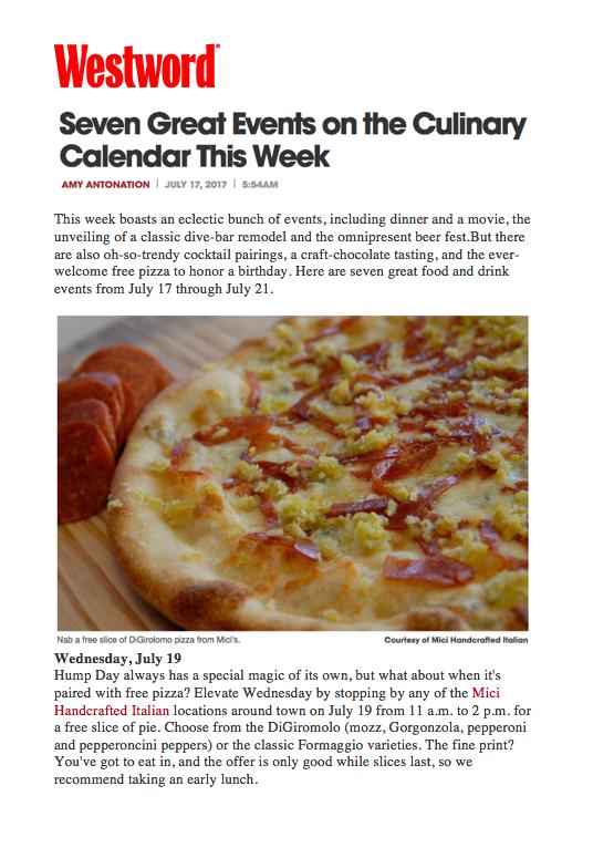 Westword Anniversary Pizza