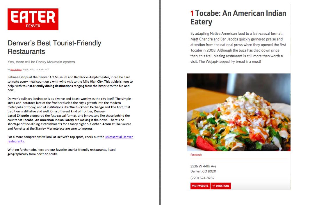 Eater Best Tourist Friendly Restaurants