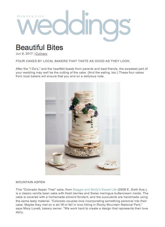 Denver Life Magazine Cake Feature