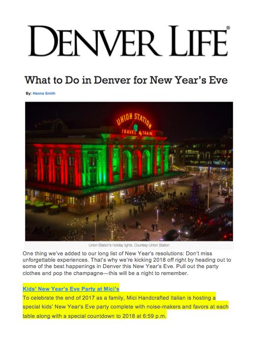Denver Life Magazine Kids' New Year's Eve