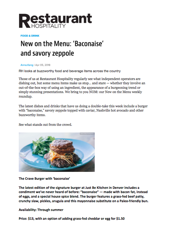 Restaurant Hospitality Baconaise