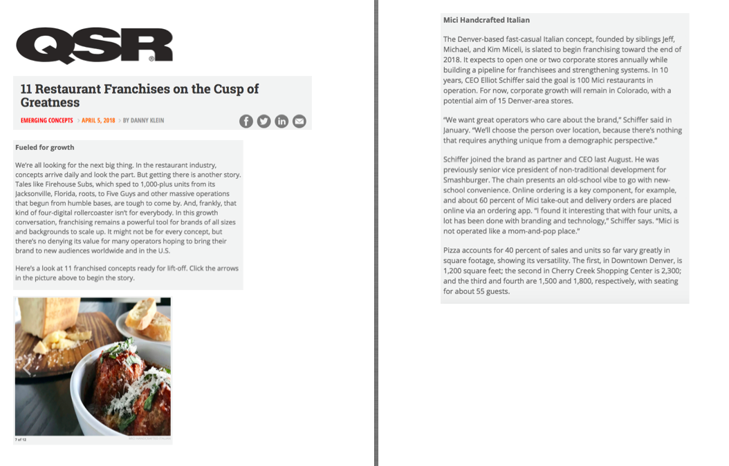 QSR Magazine Concepts on the Cusp of Greatness