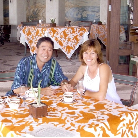 Chris Etow with her husband, Glenn