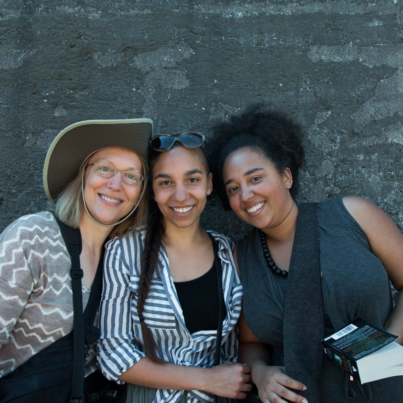 Charlene (left) with two of her daughters