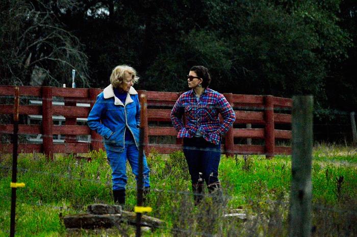 Wilda Pecore, landowner(L), Cristin Embree, board member and archaeologist (R)