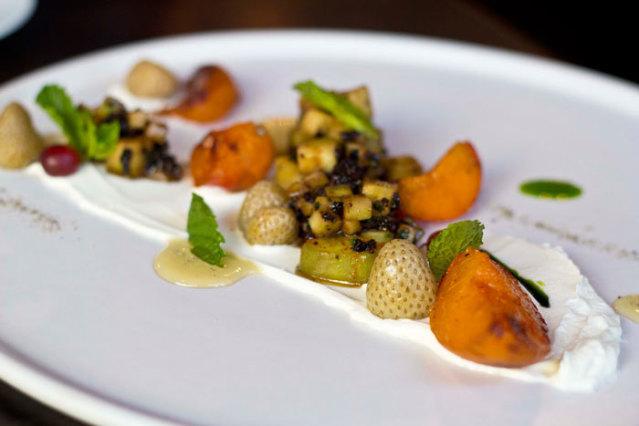 Apricot salad with yogurt%2c cucumber%2c mint%2c honey%2c and black olives.jpg