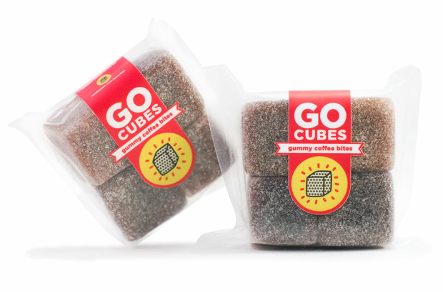 Go Cubes Chewable Coffee, $5o    Yep, it's an entire cup of delicious & zippy cold-brew coffee packed into a convenient gummy bite!  Indiegogo