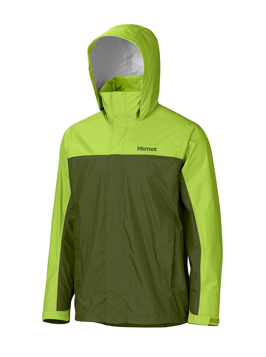 Marmot Precip Jacket  , $75    The Marmot Precip is an excellent alternative to the more expensive Gore-Tex jackets on the market. Its patented membrane material is similar to Gor-Tex at a fraction of the cost, allowing the Precip to easily shed rain while maintaining breathability.  Marmot