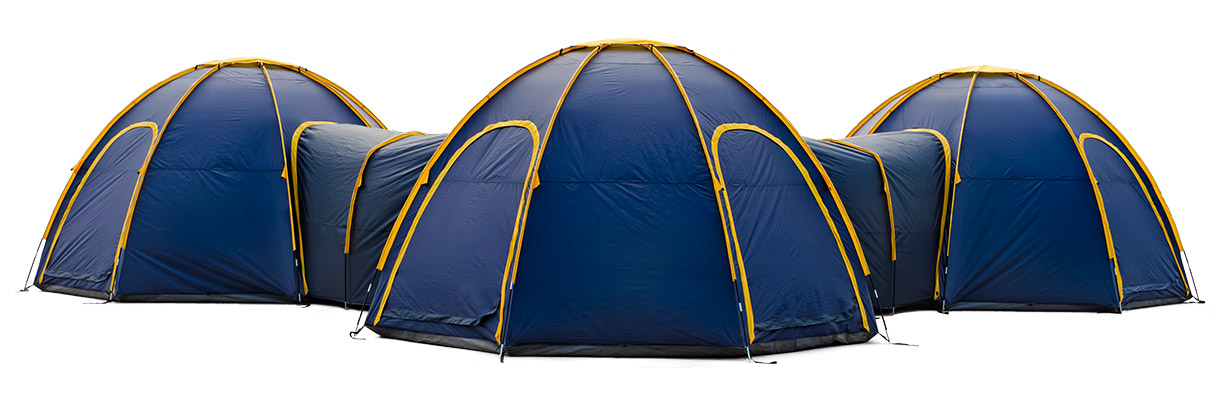 Pod Tents  , $450    Fieldwork with a team is surely more fun - so why not get a sociable tent when you're sleeping out? This revolutionary tent system is modular and extendable, with a central pod that sleeps 8, and connecting tunnels that easily attach to create a network of many additional pods. Cool!  Pod