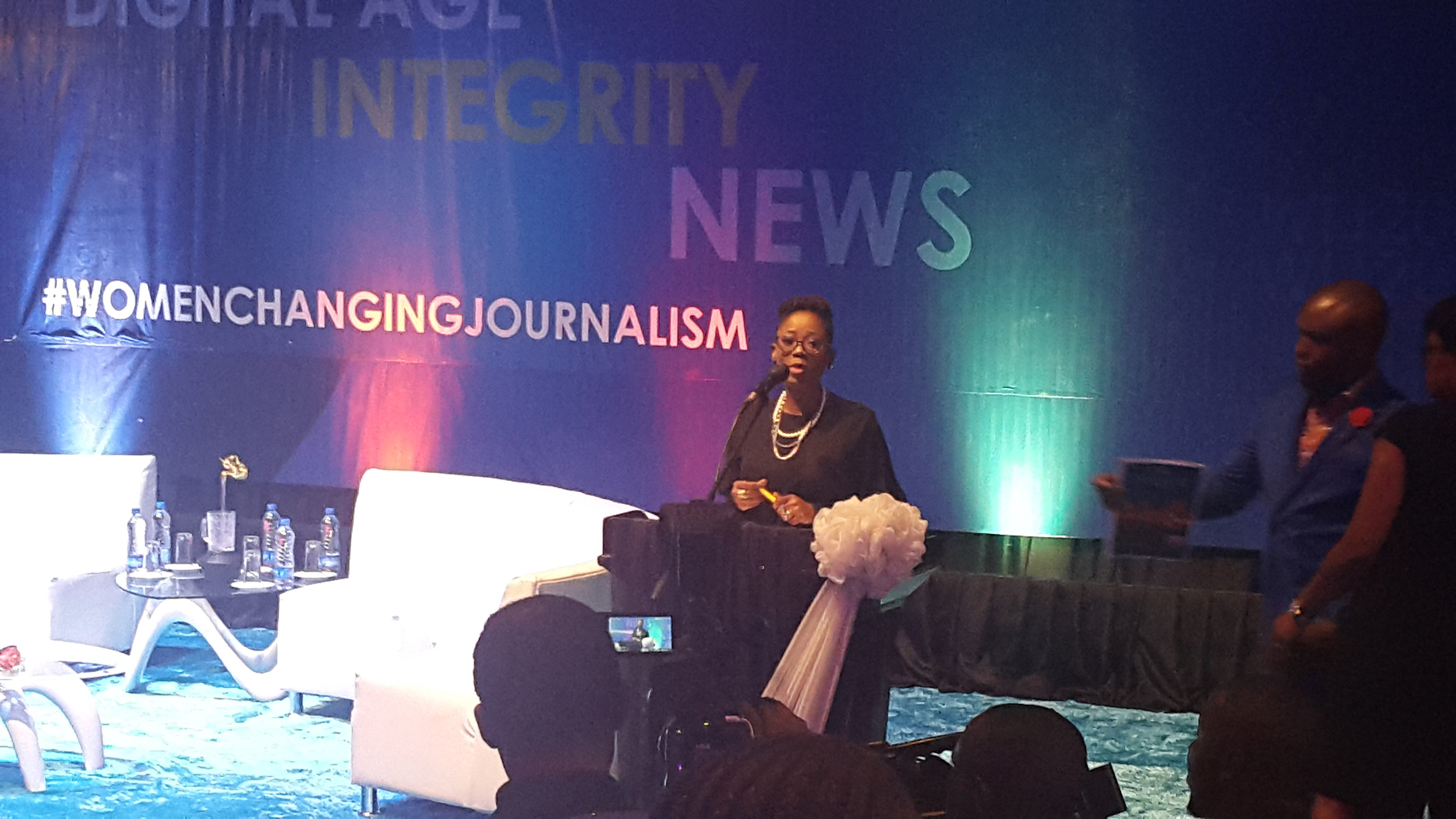 Tosyn Bucknor introducing her panel