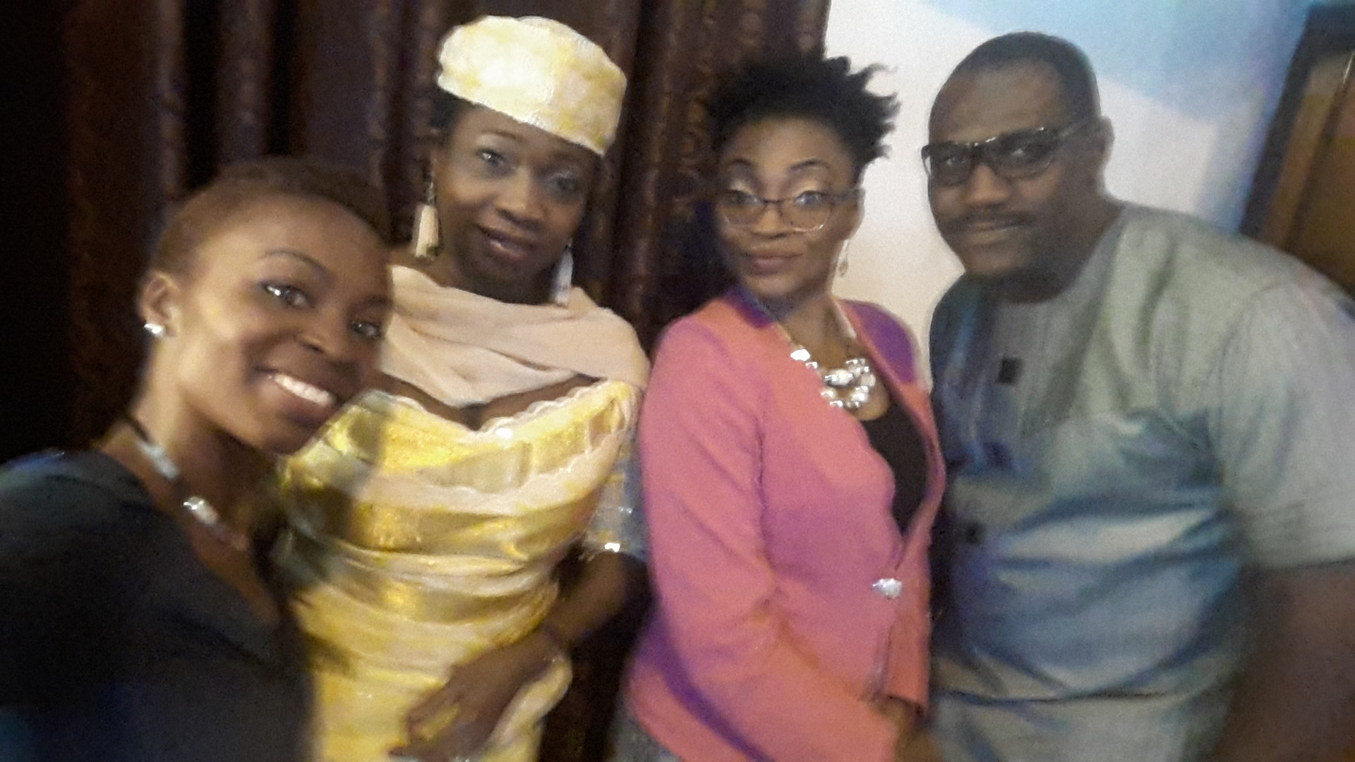 A quick Selfie with Hon. Abike Dabiri, Kris Ero and Toni Kan (Sabi News)