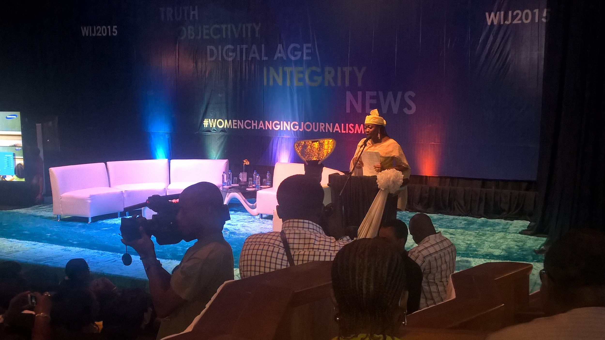 Former House of Reps member & Veteran Journalist Abike Dabiri-Erewa giving some remarks