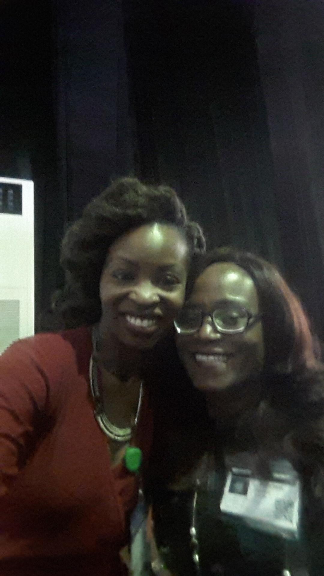 With panelist,Funke Bucknor-Obruthe (Event Planner/Designer extraordinaire)
