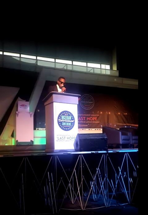 D'banj making his presentation: 'Content is the new Crude'